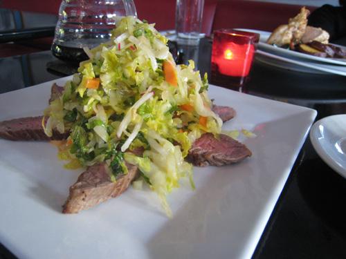 Kimchi Flank Steak Salad